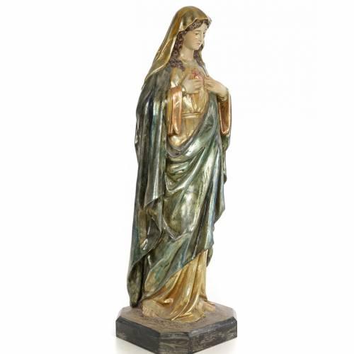 Sacro Cuore di Maria 80 cm pasta di legno dec. policroma s4