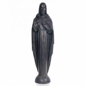 Sacro Cuore Gesù 100 cm pasta di legno dec. bronzata s1