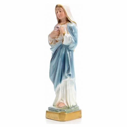 Sagrado Corazón de María de 16cm yeso Nacarado s2
