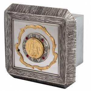 Sagrario IHS latón, imagen bronce s1