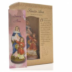 Saint Anne 12cm with image and SPANISH PRAYER s3