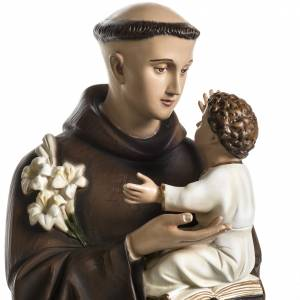 Saint Anthony of Padua 100cm statue in painted reconstituted mar s2