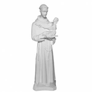 Saint Anthony of Padua, 60cm reconstituted Carrara marble statue s1