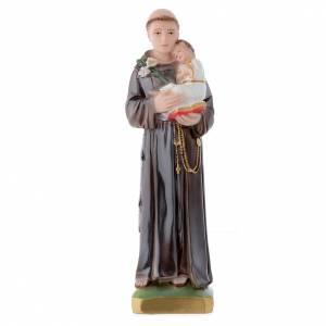 Plaster Statues: Saint Anthony of Padua statue in plaster, 30 cm