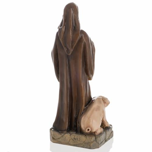 Saint Anthony the Abbot, 35 cm in painted Reconstituted marble s6