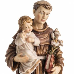Saint Antony with Child wooden statue painted s2