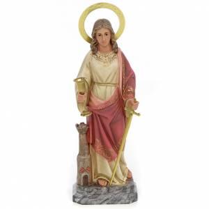 Saint Barbara 30cm wood paste, elegant decoration s1