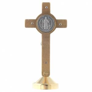 Saint Benedict crosses: Saint Benedict rmetal red cross table