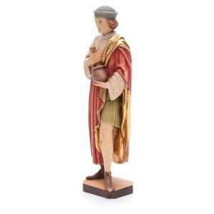 Saint Damien avec mortier 25 cm bois peint Valgardena s2