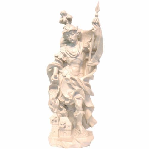 Saint Florian in waxed Valgardena wood, baroque style s1