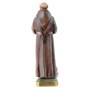 Saint Francis, pearlized plaster statue, 30 cm s4