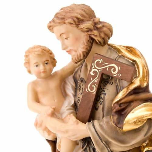 Saint Joseph avec l'enfant Jésus, statue bois s5
