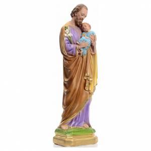 Saint Joseph en plâtre perlé 40 cm s2