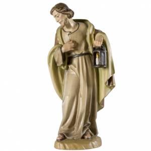 Saint Joseph pour crèche bois peint Val Gardena 12cm s1