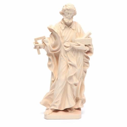Saint Joseph travailleur bois naturel Valgardena s1