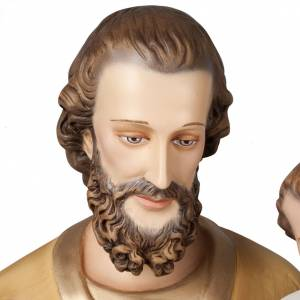 Saint Joseph with infant Jesus, fiberglass statue 160 cm s6