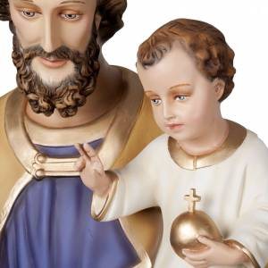 Saint Joseph with infant Jesus, fiberglass statue 160 cm s2