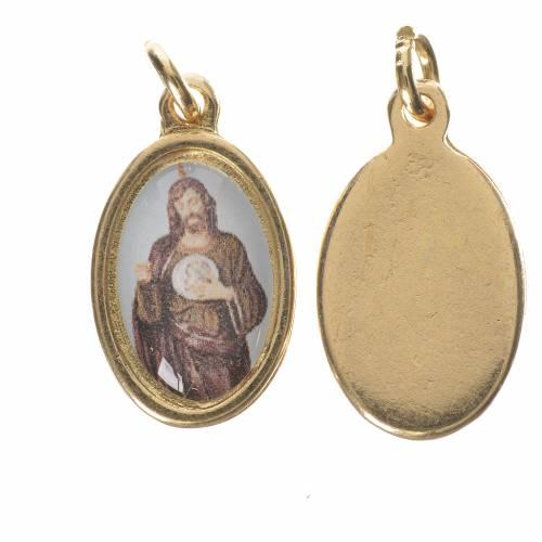 Saint Jude Thaddaeus Medal in golden metal, 1.5cm s1