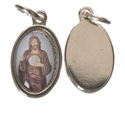 Saint Jude Thaddaeus Medal in silver metal, 1.5cm s1