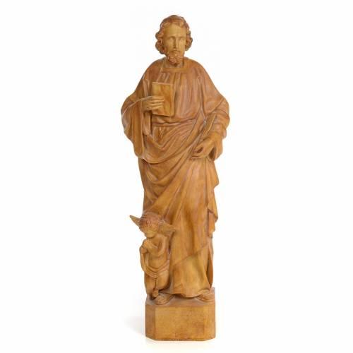 Saint Matthieu 60 cm pâte à bois finition brunie s1