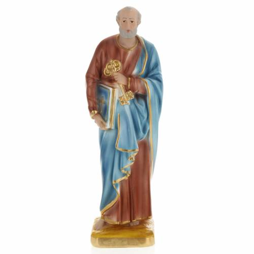 Saint Peter statue in plaster, 30 cm s1