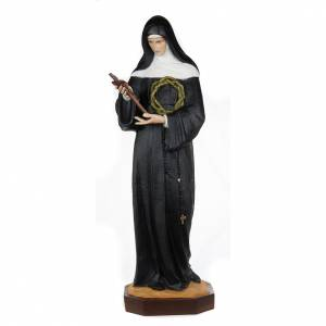 Saint Rita of Cascia statue, 100cm in painted reconstituted marb s1