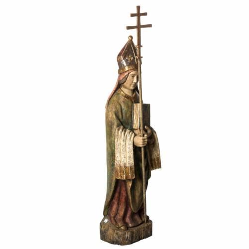 Saint Évêque 95 cm bois peint Bethléem s2