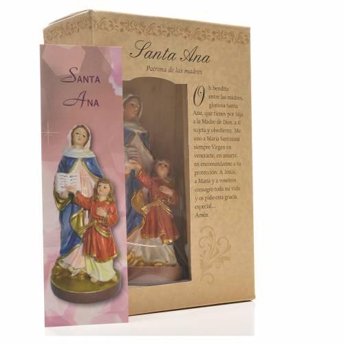 Sainte Anne 12cm image et prière en Espagnol s3