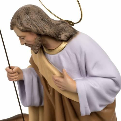 Sainte Famille 40 cm pâte à bois avec boeuf et ane s3