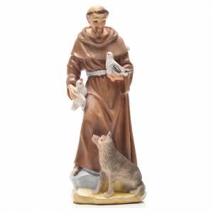 San Francesco d'Assisi 12 cm con immaginetta PREGHIERA ITALIANO s1