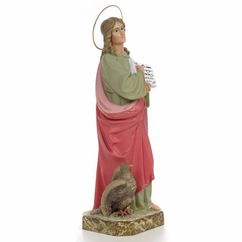 San Giovanni Evangelista 40 cm pasta di legno dec. fine s4
