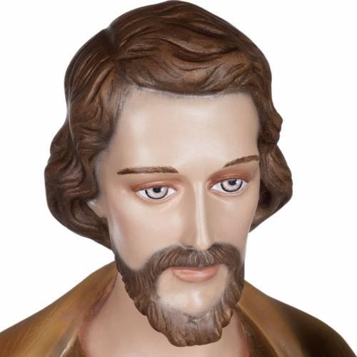 San Giuseppe con Bambino vetroresina 100 cm s4