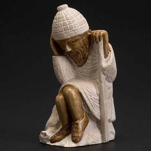 San Giuseppe presepe d'Autunno bianco dipinto s3
