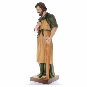 San José Obrero con niño 150 cm belén fibra de vidrio coloreada s2