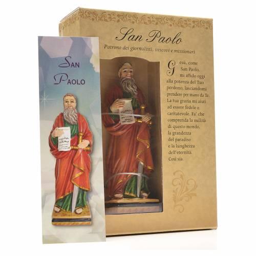 San Pablo 12cm con imagen y oración en Italiano s3
