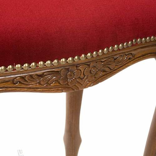 Sanctuary stool with red velvet s3