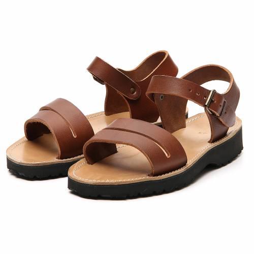 Sandales franciscains mod. Bethléem cuir Moines de Bethléem s5