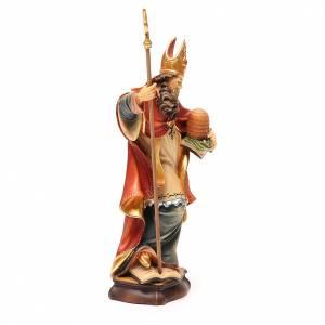STOCK Sant'Ambrogio cm 20 legno Valgardena colorato s4