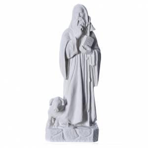 Statue in polvere di marmo di Carrara: Sant'Antonio Abate 35 cm marmo bianco