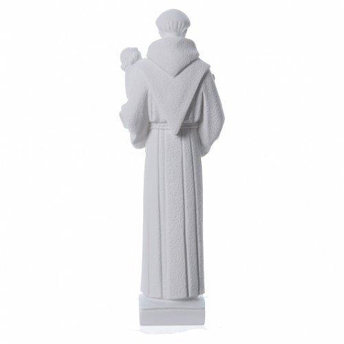 Sant'Antonio da Padova 40 cm polvere di marmo bianco s4