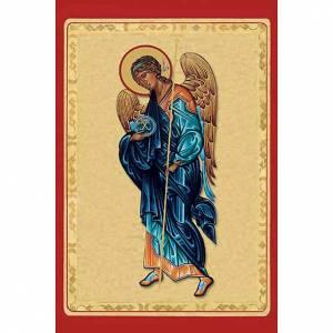 Santino Arcangelo Michele con manto blu s1