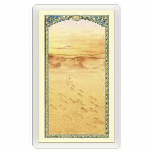 Santino Immagine di orme sulla sabbia Messaggio di Tenerezza ITA 10x5 s1