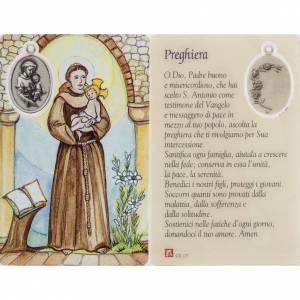 Santino Sant'Antonio plastificato con preghiera s1