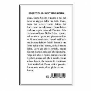 Santini: Santino Spirito Santo con Sequenza su retro