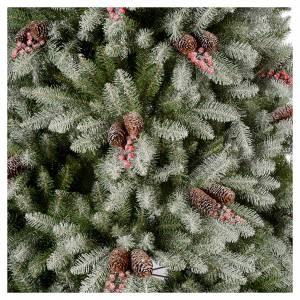 Sapins de Noël: Sapin de Noël 180 cm enneigé pommes pin baies Dunhill