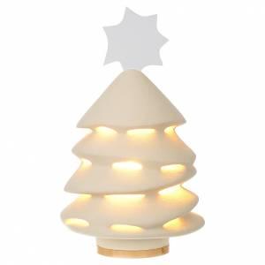 Sapin de Noël céramique Centre Ave 31 cm illuminé s1