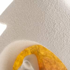 Sapin Noel sur base Nativité orange argile s5