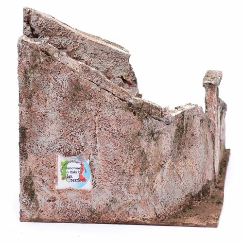 Scalinata presepe tipo roccia 15x15x25 cm s4