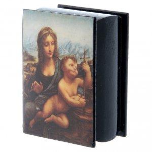 Scatola russa cartapesta La Madonna dei Fusi 7X5 cm s2