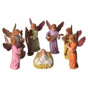 Scène Enfant Jésus avec anges 11 cm Moranduzzo s1